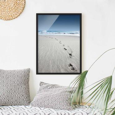 Poster con cornice - Traces In The Sand - Verticale 4:3