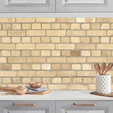 Rivestimento cucina - Parete in mattoni beige chiaro
