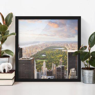 Poster con cornice - View Of The Central Park - Quadrato 1:1