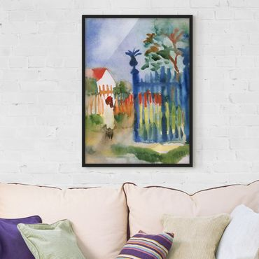 Poster con cornice - August Macke - Garden Gate - Verticale 4:3