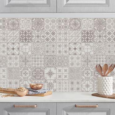Rivestimento cucina - Motivo piastrelle Coimbra grigio