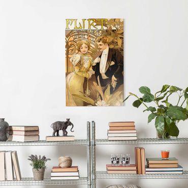 Quadro in vetro - Alfons Mucha - Pubblicità Poster For Flirt Biscuits - Verticale 3:2