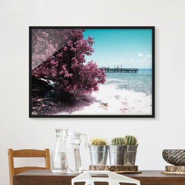 Poster con cornice - Paradise Beach Isla Mujeres - Orizzontale 3:4