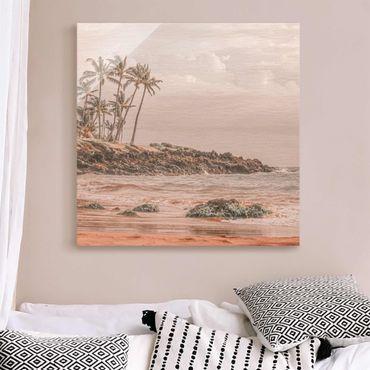 Quadro in vetro - Aloha spiaggia alle Hawaii