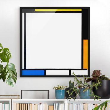 Poster con cornice - Piet Mondrian - Composition II - Quadrato 1:1