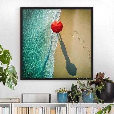 Poster con cornice - Walk On The Beach - Quadrato 1:1