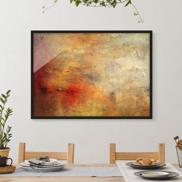 Poster con cornice - Joseph Mallord William Turner - Tramonto sul lago - Orizzontale 3:4