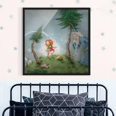Poster con cornice - Frida Sets The Star Free - Quadrato 1:1