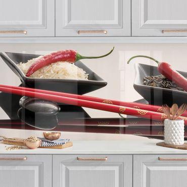 Rivestimento cucina - Peperoncini rossi a Rice Bucce