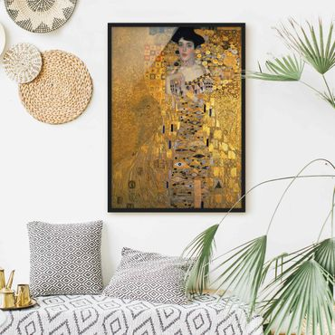 Poster con cornice - Gustav Klimt - Ritratto Adele Bloch-Bauer I - Verticale 4:3