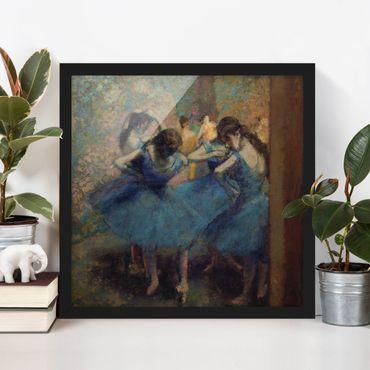 Poster con cornice - Edgar Degas - Blue Dancers - Quadrato 1:1