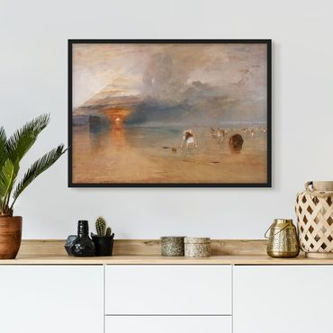 Poster con cornice - William Turner - The Beach At Calais - Orizzontale 3:4