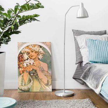 Quadro in vetro - Alfons Mucha - Fiore - Verticale 3:2