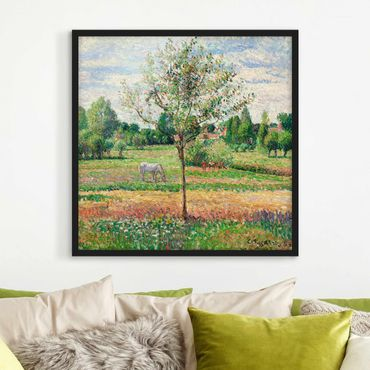 Poster con cornice - Camille Pissarro - Meadow With Mold - Quadrato 1:1