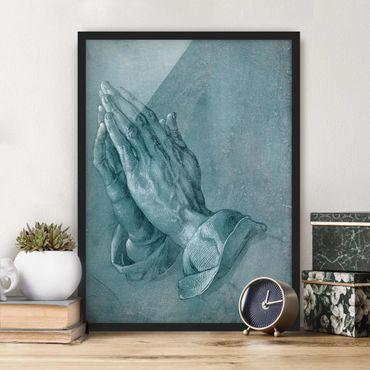 Poster con cornice - Albrecht Dürer - Studio di mani in preghiera - Verticale 4:3