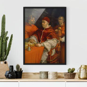 Poster con cornice - Raffael - Portrait Of Pope Leo X - Verticale 4:3