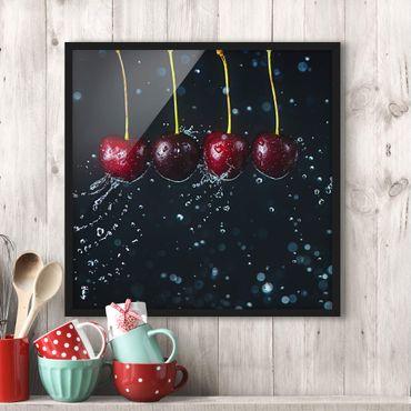 Poster con cornice - Fresh Cherries - Quadrato 1:1