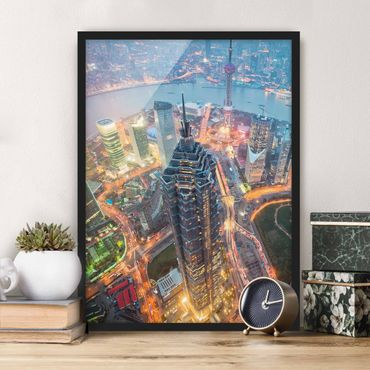 Poster con cornice - Shanghai - Verticale 4:3