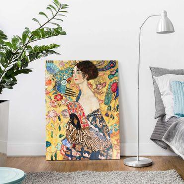 Quadro in vetro - Gustav Klimt - Donna con ventaglio - Verticale 4:3
