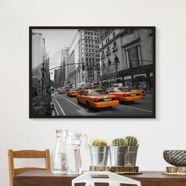 Poster con cornice - New York, New York! - Orizzontale 3:4