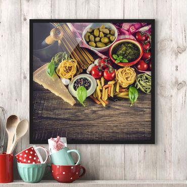 Poster con cornice - Pasta - Quadrato 1:1