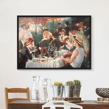 Poster con cornice - Auguste Renoir - La colazione dei canottieri - Orizzontale 3:4