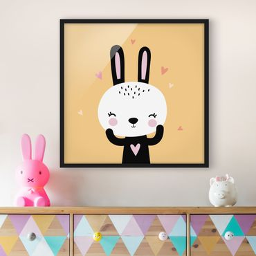 Poster con cornice - The Happy Bunny