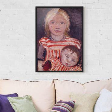 Poster con cornice - Paula Modersohn-Becker - Girl With Doll - Verticale 4:3