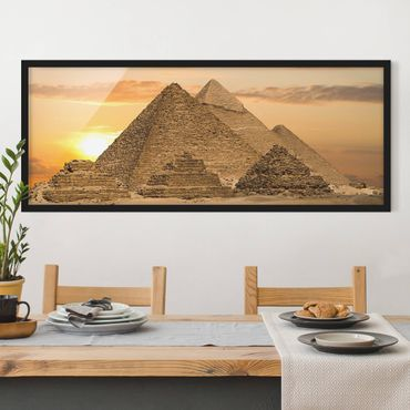 Poster con cornice - Sogno D'Egitto - Panorama formato orizzontale