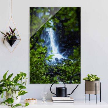 Quadro in vetro - Vista sulla cascata