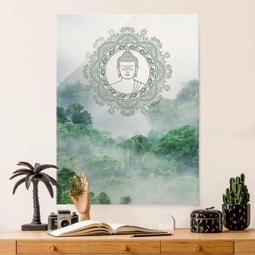 Quadro in vetro - Buddha Mandala nella nebbia