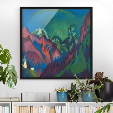 Poster con cornice - Ernst Ludwig Kirchner - Canyon Zügenschlucht Near Monstein - Quadrato 1:1
