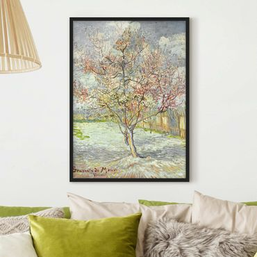 Poster con cornice - Vincent Van Gogh - Flowering Peach Trees - Verticale 4:3