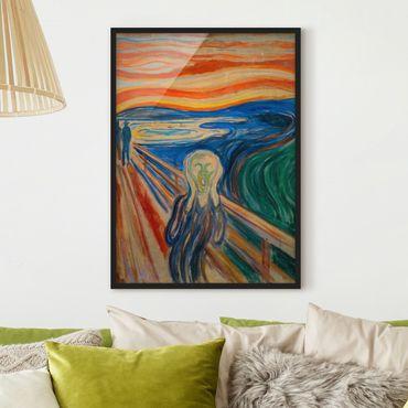 Poster con cornice - Edvard Munch - L'urlo - Verticale 4:3