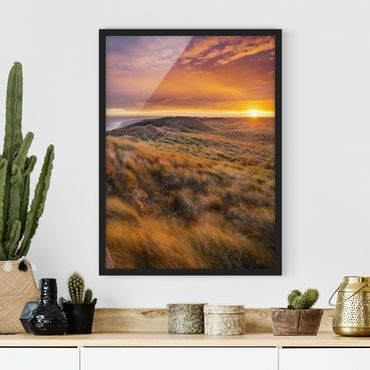 Poster con cornice - Sunrise On The Beach On Sylt - Verticale 4:3
