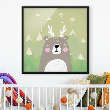 Poster con cornice - Wolpertinger Bears