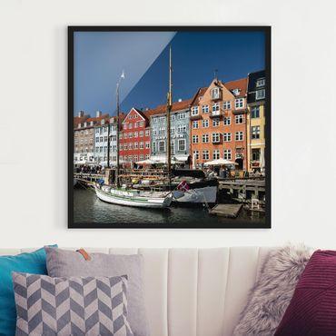 Poster con cornice - No.530 Port In Copenhagen - Quadrato 1:1