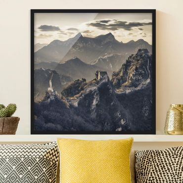 Poster con cornice - The Great Chinese Wall - Quadrato 1:1