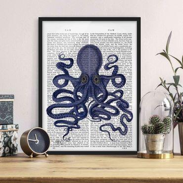 Poster con cornice - Lettura Degli Animali - Octopus - Verticale 4:3