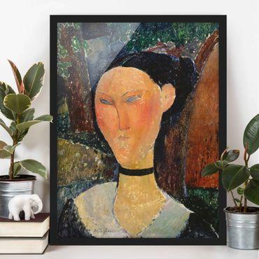 Poster con cornice - Amedeo Modigliani - Woman With A Velvet Neckband - Verticale 4:3