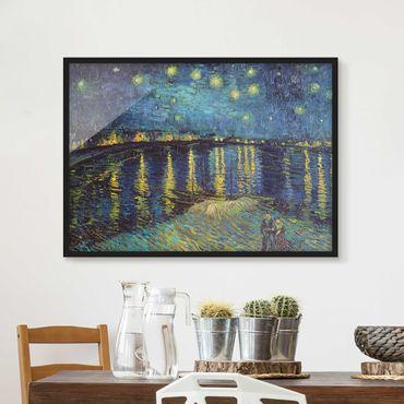 Poster con cornice - Vincent Van Gogh - Notte stellata sul Rodano - Orizzontale 3:4