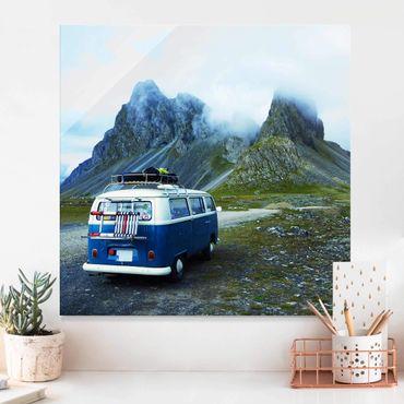 Quadro in vetro - Camper in Islanda
