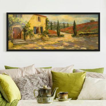 Poster con cornice - paesaggio italiano - Toscana