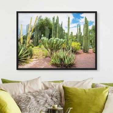 Poster con cornice - Cactus Landscape - Orizzontale 3:4