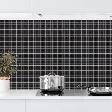 Rivestimento cucina - Mosaici nero opaco