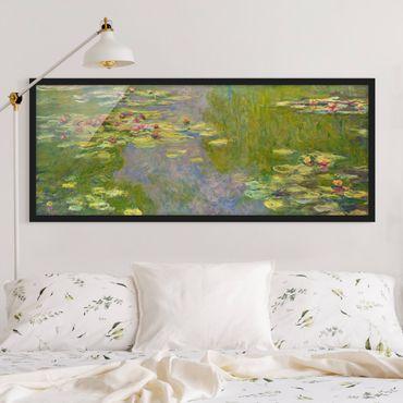 Poster con cornice - Claude Monet - Verde Ninfee - Panorama formato orizzontale