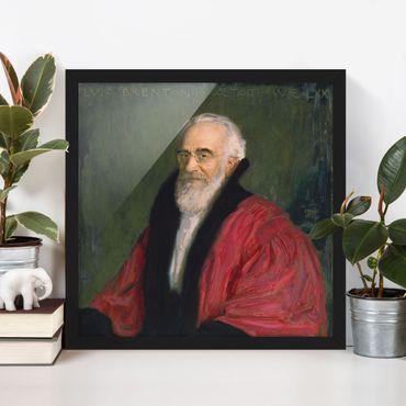 Poster con cornice - Franz Von Stuck - Portrait Of Lujo Brentano - Quadrato 1:1