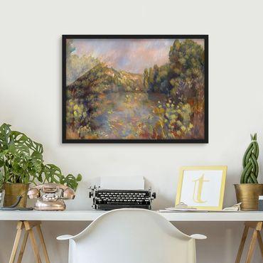 Poster con cornice - Auguste Renoir - Landscape With Lake - Orizzontale 3:4