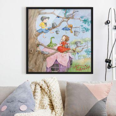 Poster con cornice - The Strawberry Fairy - It'S Raining - Quadrato 1:1