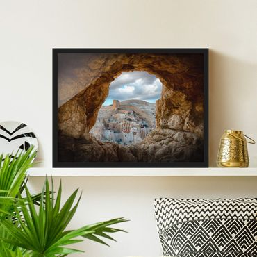 Poster con cornice - View Of A Monastery - Orizzontale 3:4